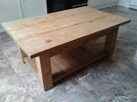 Heavy hand made wooden table