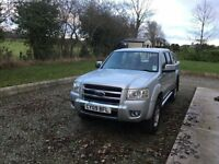Ford Ranger 2.5 TDCi Thunder Double Cab Crewcab Pickup 4x4 4dr. full years test with 2 new tyres