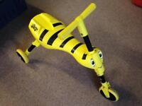 Scuttle Bug Bumble Bee Yellow Toddler Trike Scooter (Can be folded for storage)