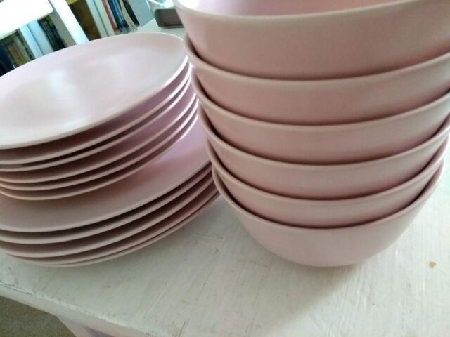 Ikea Pale Pink Dinner set | in Rochester, Kent | Gumtree