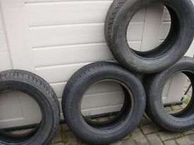 Tyres 195 60 14 (x4) All Cracking Tread. One small cut in one Tyre £30 for the 4 tyres