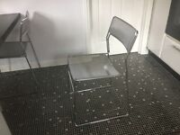 4 beautiful chrome kitchen/dining chairs (retro) in excellent condition. Italian design. K