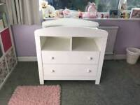 Mothercare padstow changing table dresser with drawets