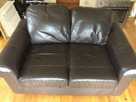 Sofa- brown leather style