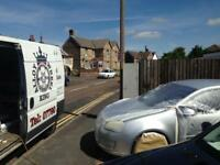 Mobile wheel and vehicle paint repair