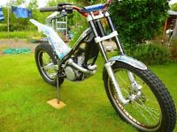 Trials bike. Sherco 290 2006 Cabestany model.