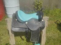 black n blue western saddle!