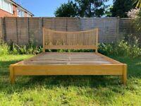 John Lewis - Willis & Gambier Essence Oak High Slatted 6ft Super King Size Bed Frame