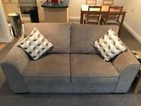 2 Seater Suede Effect Sofa