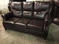 Top grade leather 3 11 sofa set