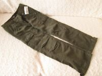 BRAND NEW H & M KHAKI CORDED COMBAT TROUSERS Age 9-10