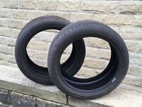 Tyres x2 One Continental one Pirelli