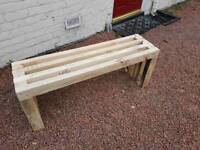 Hand Made solid 3x2 garden bench