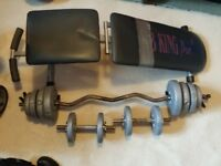 weights bar/weights/ dumbells /bench