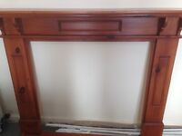 Hand made Stained pine fire surround