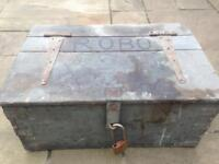 wooden hinged tool chest