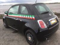 Late 2010 Fiat 500 1.2 pop in black.