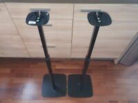 Flexson Adjustable Floor Stands Pair for Sonos One, PLAY 1 and One SL (Black)