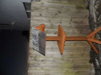 large bird table slate and lead roof