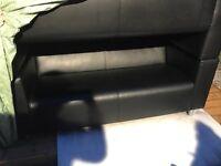 Two Black Ikea Klippan Sofas