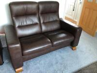 2 x two seater leather Stressless sofa's
