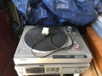 SONY stereo turntable system PS-LX22 and FM Stereo/FM.AM Receiver STR-VX10L