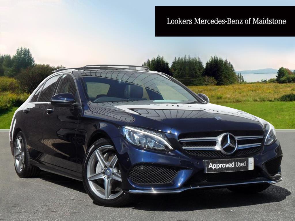 Mercedes-Benz C Class Diesel Saloon AMG Line (blue) 2017-07-31