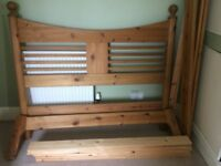 John Lewis Pine double bed frame (optional free mattress)