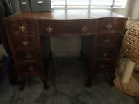 Antique Leather Top Desk