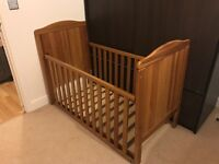 Baby cot and mattress for sale urgent(dismantled)