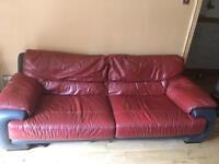 3 seater leather sofa FREE