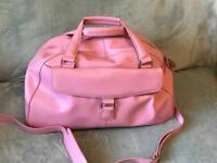 Leather hold-all from M & S in pink never used