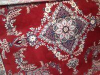 Traditional Indian style 100% wool handmade rug.