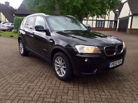 2012 BMW x3 diesel manual Xdrive 20D full black leather full screen sat mav service History 1 owner