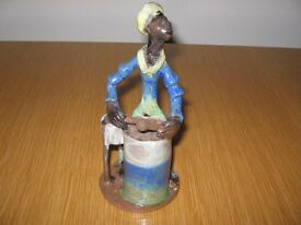 ANTIGUA POTTERY DRUMMER FIGURE