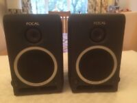 PAIR OF FOCAL PROFESSIONAL MONITOR SPEAKERS. EXCELLENT CONDITION. SUPERB AS DESKTOP SPEAKERS.