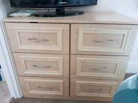 Two Chest of Drawers, 3+6 and 2xbedside tables.