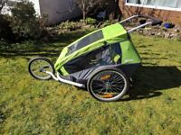 Croozer Kid for 2 Bike Trailer with Accessories, over £550 new, looking for £275, in great condition