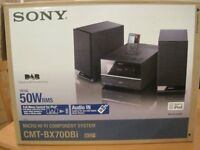 SONY MUSIC MICRO SYSTEM (DAB /CD/ipod DOCKING STATION /SPEAKERS