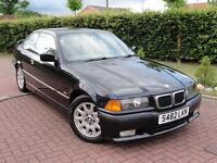 BMW E36 323i Coupe, Manual, 118k Miles, Cosmos Black with Beige Leather Interior