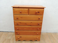 Pine strong chest of drawers (Delivery)