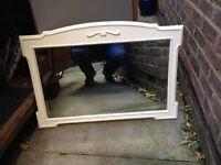 Vintage painted oak mirror