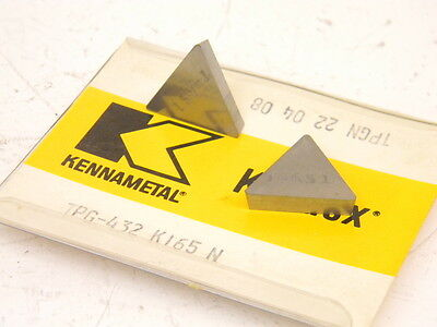 New Surplus 5pcs. Kennametal Carbide Inserts Tpg 432 Grade K165