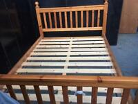 Solid pine kingsize bed