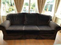 Very comfortable velvet sofa in great condition