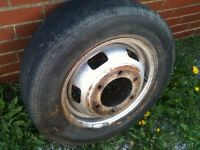 "FORD TRANSIT MK4 / MK5 15"" STEEL WHEEL AND TYRE IDEAL FOR SPARE BARGAIN £20"