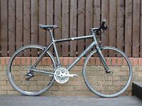 Btwin Fit 5 flat bar road bike, Grey