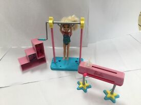 Barbie Chelsea gymnastics kit with Chelsea doll