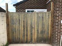 Corsley Wooden Driveway/Garden Gates
