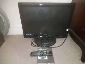 "19"" TV with DVD for sale"